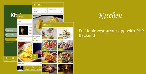 Kitchen - Ionic 3 restaurant  template