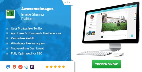 Awesome Images : Photo Sharing Platform - Supports GIFs and Social Login - CodeCanyon Item for Sale