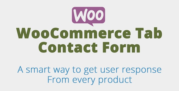 Woocommerce Product Tab Contact form - CodeCanyon Item for Sale