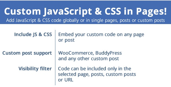 Custom JavaScript & CSS in Pages! - CodeCanyon Item for Sale