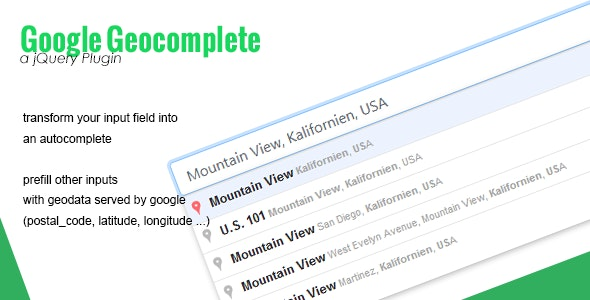 Google Geocomplete - CodeCanyon Item for Sale