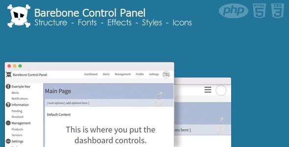 Barebone Control Panel - CodeCanyon Item for Sale
