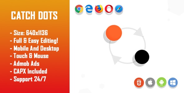Catch Dots - HTML5 Game + Mobile Version! (Construct-2 CAPX) - CodeCanyon Item for Sale