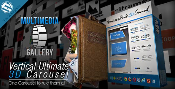 Vertical Ultimate 3D Carousel Wordpress Plugin