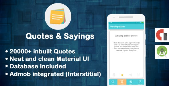 20000+ Quotes & Sayings Full Application with database and admob integration