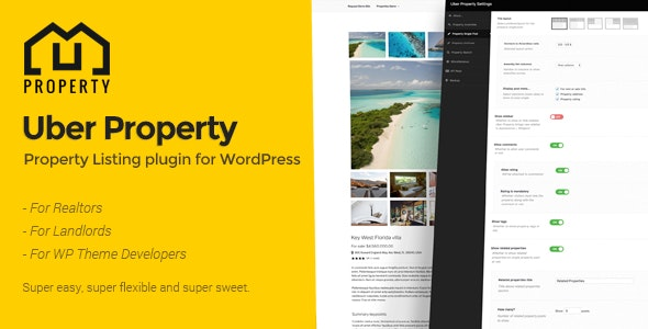 Uber Property - The property listing plugin for WordPress - CodeCanyon Item for Sale