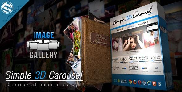 Simple 3D Carousel Wordpress Plugin - CodeCanyon Item for Sale