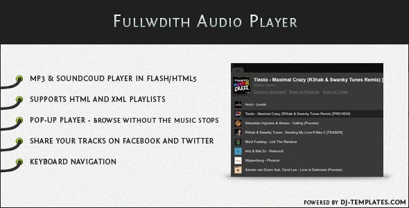 Fullwidth Audio Player - jQuery Plugin
