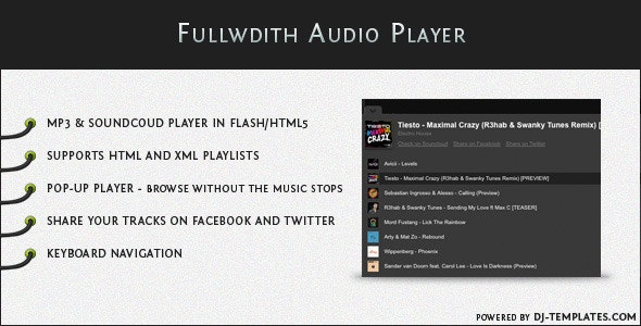 Fullwidth Audio Player - jQuery Plugin - CodeCanyon Item for Sale