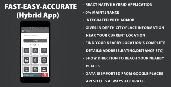 Around Me | Location Finder | Hybrid Application On React Native With Admob