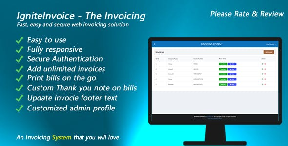 IgniteInvoice - The Invoicing - Fast, easy and secure web invoicing solution