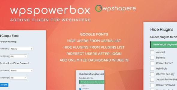 WPSPowerbox - Addon for WPShapere WordPress Admin Theme - CodeCanyon Item for Sale