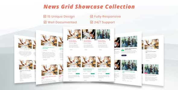 Blog / News Grid CSS Showcase  - Blog Grid and News Grid Rersponsive Showcase