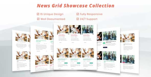 Blog / News Grid CSS Showcase  - Blog Grid and News Grid Rersponsive Showcase - CodeCanyon Item for Sale