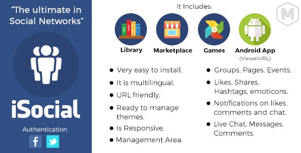 iSocial - Social Network Platform - CodeCanyon Item for Sale