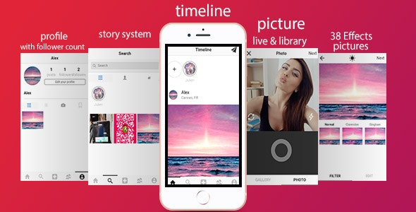 Zapinsta - The most advanced instagram clone with Ionic and Firebase - CodeCanyon Item for Sale