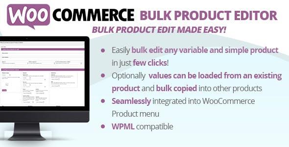 WooCommerce Bulk Product Editor