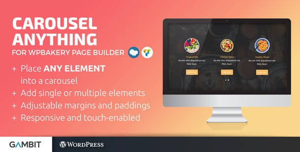 Carousel Anything for WPBakery Page Builder (formerly Visual Composer)