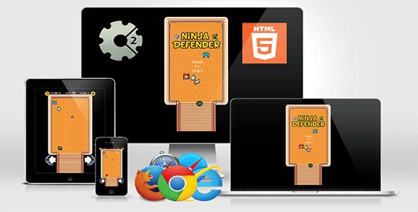 Ninja Defender HTML5 Game (CAPX)