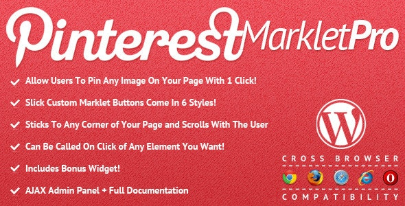 Pinterest Marklet for WordPress - CodeCanyon Item for Sale