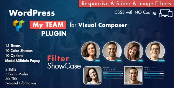 Team Showcase for Visual Composer WordPress Plugin        Nulled