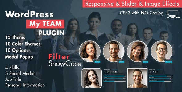 My Team Showcase WordPress Plugin        Nulled