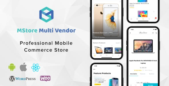 MStore Multi Vendor - Complete React Native template for WooCommerce - CodeCanyon Item for Sale