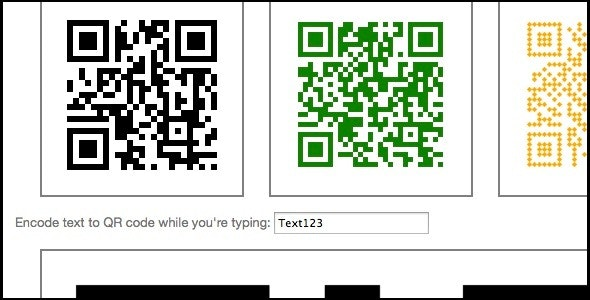 QR Encoder JS Library - CodeCanyon Item for Sale