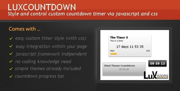 LuxCountdown - CodeCanyon Item for Sale