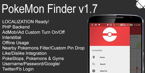 Make A Pokestop App With Mobile App Templates from CodeCanyon