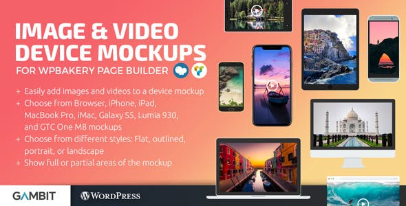 Image & Video Device Mockups Shortcode