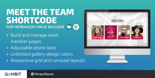 Meet the Team Shortcode for WPBakery Page Builder (formerly Visual Composer) - CodeCanyon Item for Sale