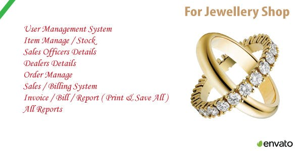 Jewellery Shop | Sales & Order Management System & Source Code