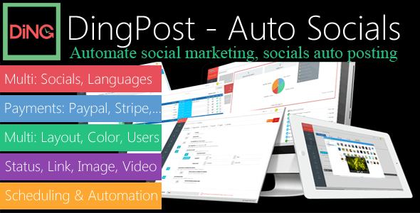 DingPost - Social Auto Poster, Auto Scheduler & Marketing Solutions - CodeCanyon Item for Sale