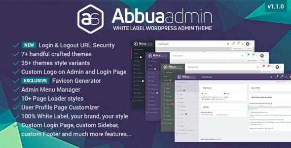 ABBUA Admin WordPress Theme - CodeCanyon Item for Sale