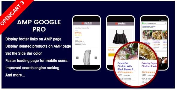 SO AMP - OpenCart 3 AMP Google plugin