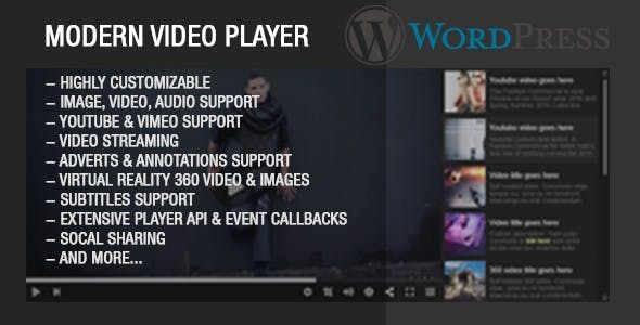 Modern Video Player For Wordpress