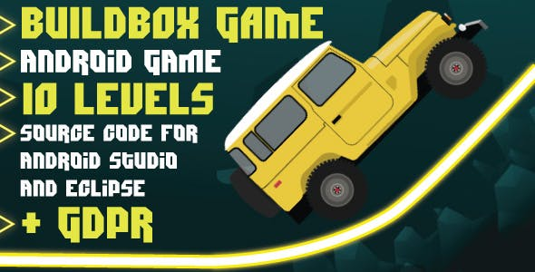 Faster Car with GDPR: Android Game-10 levels-Buildbox game-easy to reskin