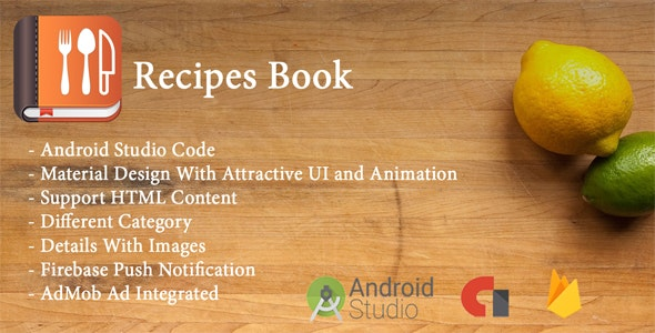 Recipes Book - CodeCanyon Item for Sale