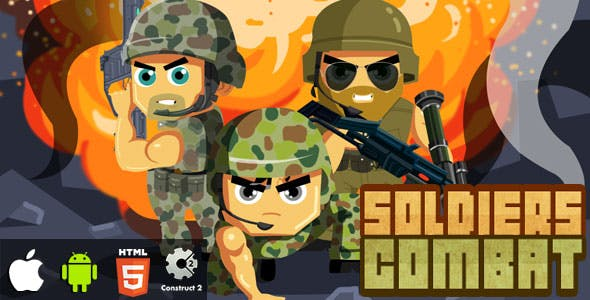 Soldiers Combat - HTML5 Game (CAPX)
