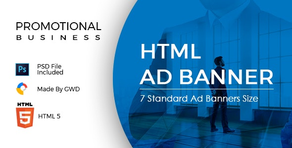 Promotional Business Ad Banners - CodeCanyon Item for Sale