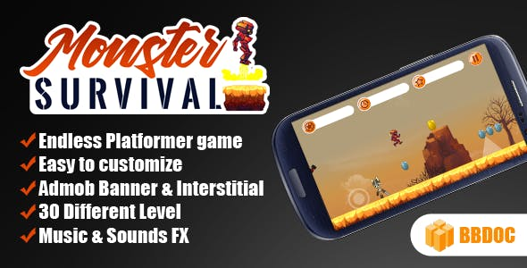 Monster Survival - Shooter Android Game With Admob