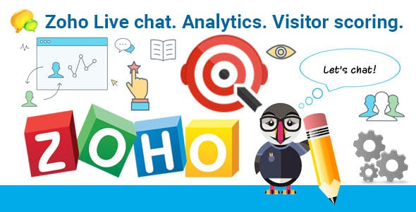 Zoho Live chat. Analytics. Visitor scoring. Module for PrestaShop.