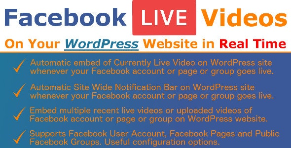 Facebook Live Video Auto Embed for WordPress - CodeCanyon Item for Sale