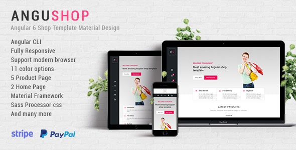 Angushop - Angular 8 Shop Template Material Design by danurstrap