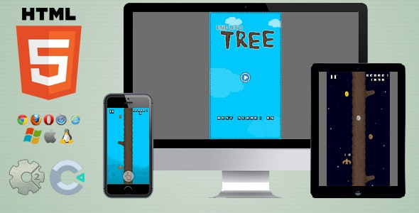 Endless Tree - HTML5 Skill game - CodeCanyon Item for Sale