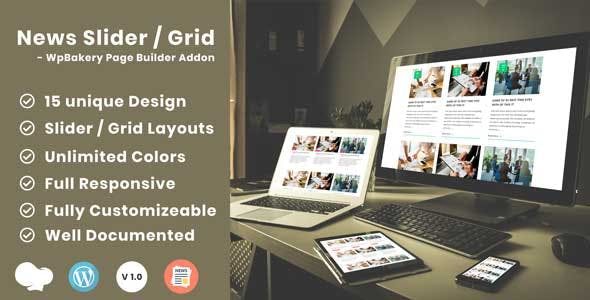 News Post Sliders News Post Grid Builder Addon - WpBakery Page Builder(Visual Composer) Wordpress