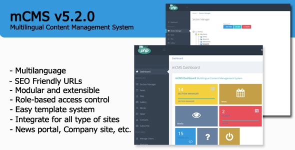mCMS - Multilingual Content Management System - CodeCanyon Item for Sale