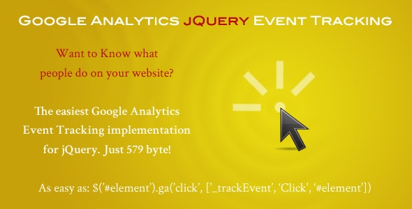 Google Analytics jQuery Event Tracking - CodeCanyon Item for Sale