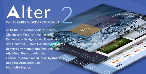 White Label Wordpress Plugin - WpAlter        Nulled